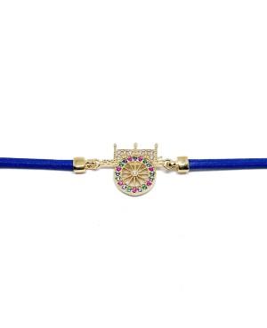 Bracelet Carretto Zirc Cordino Blu IMBR17D - 2 - Bracciali