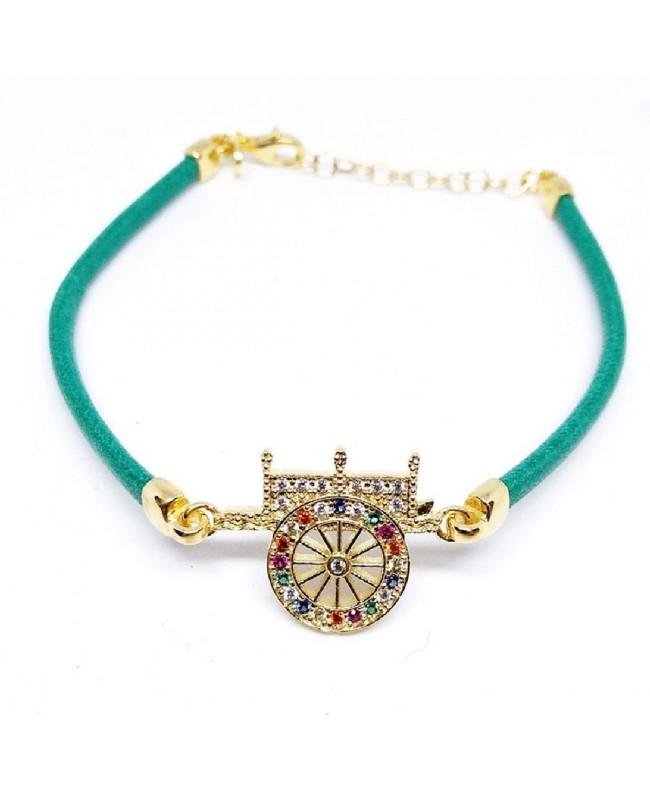 Bracelet Carretto Zirc Cordino Verde IMBR17D - 1 - Bracciali