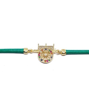 Bracelet Carretto Zirc Cordino Verde IMBR17D - 2 - Bracciali