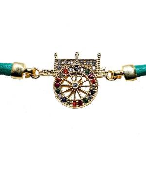 Bracelet Carretto Zirc Cordino Verde IMBR17D - 3 - Bracciali