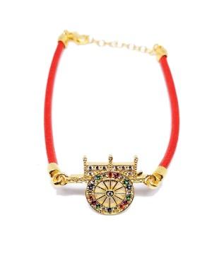 Bracelet Carretto Zirc Cordino Rosso IMBR17D - 1 - Bracciali