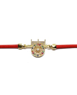 Bracciale Carretto Zirc Cordino Rosso IMBR17D - 2 - Bracciali