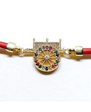Bracelet Carretto Zirc Cordino Rosso IMBR17D - 3 - Bracciali