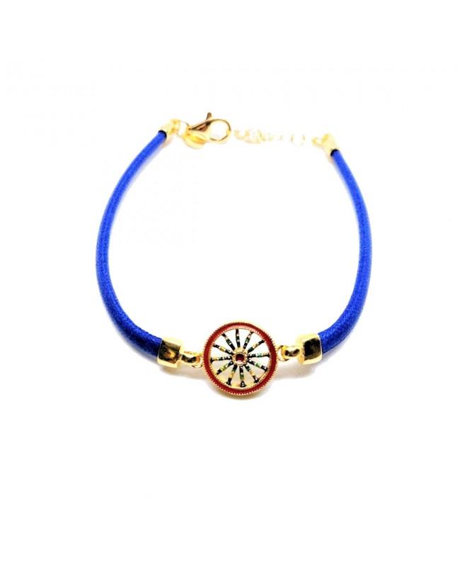 Bracelet Ruota Cordino Blu IMBR39D - 1 - Bracciali