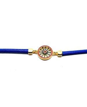 Bracciale Ruota Cordino Blu IMBR39D - 2 - Bracciali