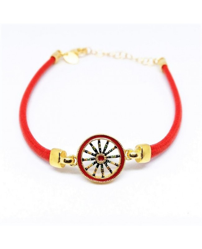 Bracelet Ruota Cordino Rosso IMBR39D - 1 - Bracciali