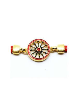 Bracciale Ruota Cordino Rosso IMBR39D - 2 - Bracciali