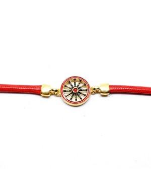 Bracciale Ruota Cordino Rosso IMBR39D - 3 - Bracciali