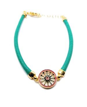 Bracelet Ruota Cordino Verde IMBR39D - 1 - Bracciali