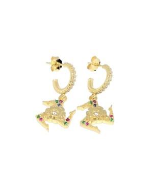 Earrings Trinacria Zirc Mezza Boccola IMORD - 2 - Orecchini