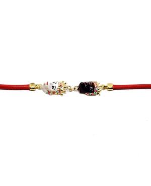 Bracelet Mori Cordino Rosso IMBR29D - 2 - Bracciali