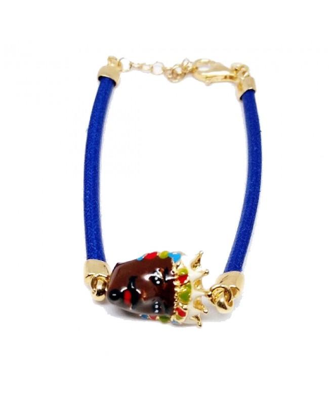 Bracelet Moro Cordino Blu IMBR34D - 1 - Bracciali