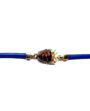 Bracciale Moro Cordino Blu IMBR34D - 2 - Bracciali