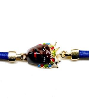 Bracciale Moro Cordino Blu IMBR34D - 3 - Bracciali