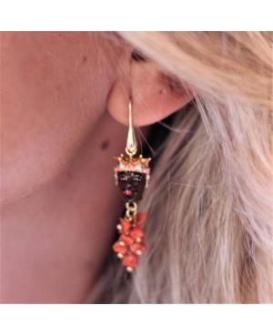 Earrings Mori con ciuffo IMOR43C - 3 - Orecchini