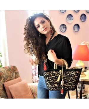 Black Lace Coffa Bag - 2 - Coffe