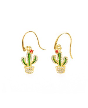 Orecchini Cactus Zirc IMOR113D - 1 - Orecchini
