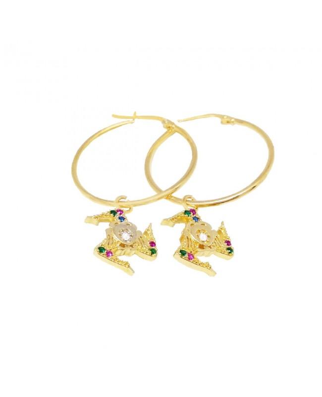 Hoop Earrings Trinacria IMOR78D - 1 - Orecchini