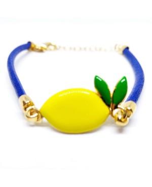 Bracciale Limone Cordino Blu Gr IMBR23D - 3 - Bracciali