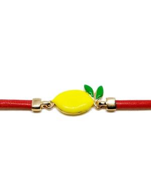 Bracciale Limone Cordino Rosso Gr IMBR23D - 2 - Bracciali