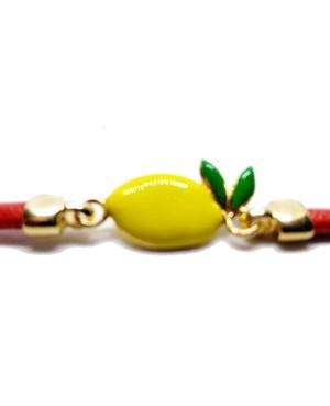 Bracciale Limone Cordino Rosso Gr IMBR23D - 3 - Bracciali