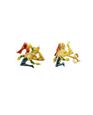 Orecchini Trinacria Smalto IMOR66D - 1 - Orecchini