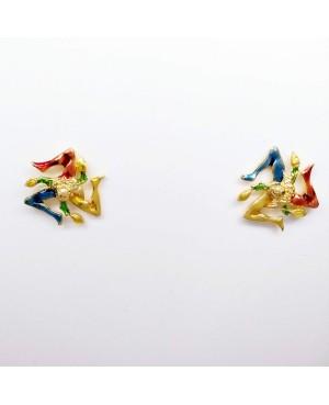 Earrings Trinacria Smalto IMOR66D - 2 - Orecchini