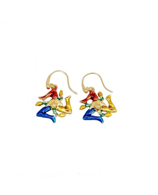 Earrings Trinacria Smalto IMOR28D - 1 - Orecchini
