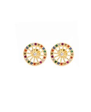 Earrings Ruota Zirc Multicolor IMOR41D - 1 - Orecchini