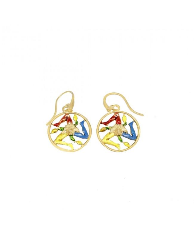 Earrings Trinacria Cerchio Smalto IMOR103D - 1 - Orecchini