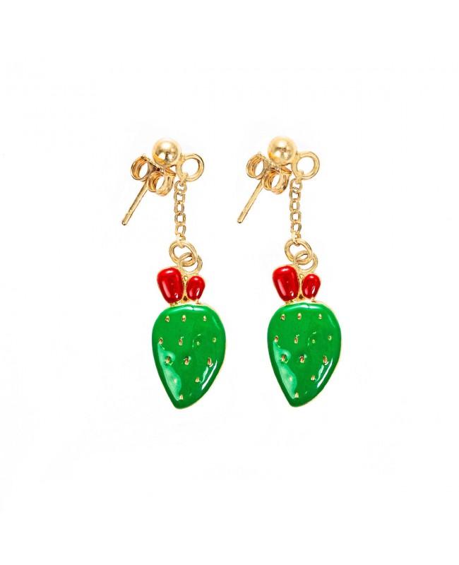 Earrings Ficodindia Smalto IMOR68D - 2 - Orecchini