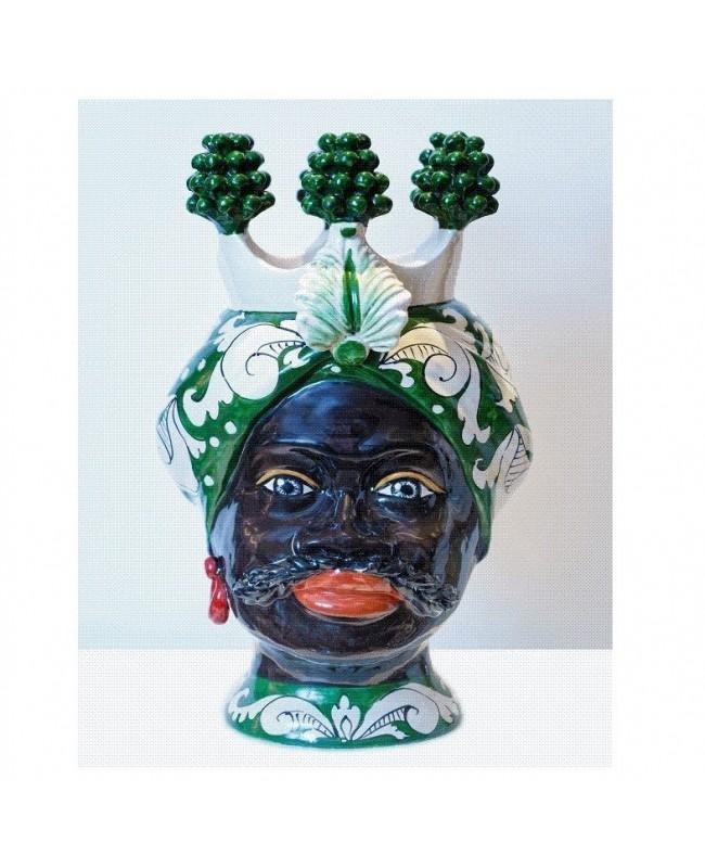 copy of Vase Testa di Moro HKF BIANCO FIORE 33 SM - 1 - Ceramic