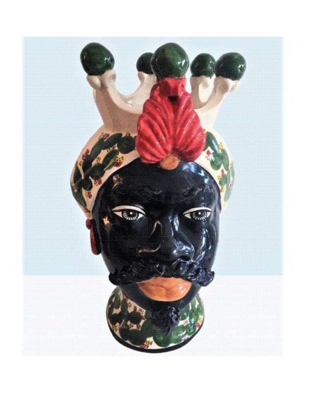 Vaso Testa di Moro HKF NERO PALA 42 SM - 1 - Ceramica
