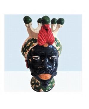 Vaso Testa di Moro HKF NERO PALA 33 SM - 1 - Ceramica