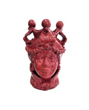 Vaso Testa di Moro HKFROSSOH20F - 1 - Ceramica