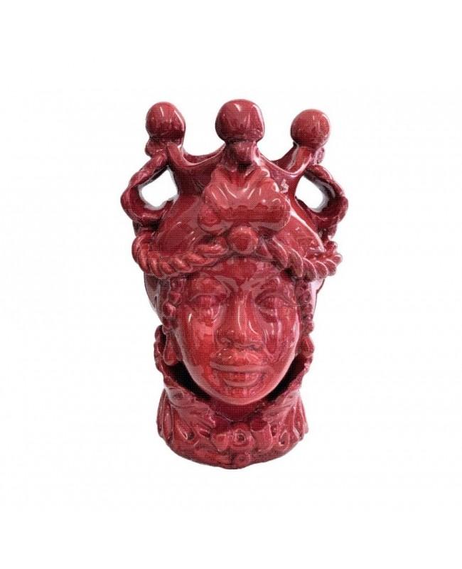 Vase Testa di Moro HKFROSSOH20F - 1 - Ceramic
