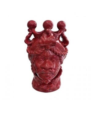 Vase Testa di Moro HKFROSSOH20M - 1 - Ceramic