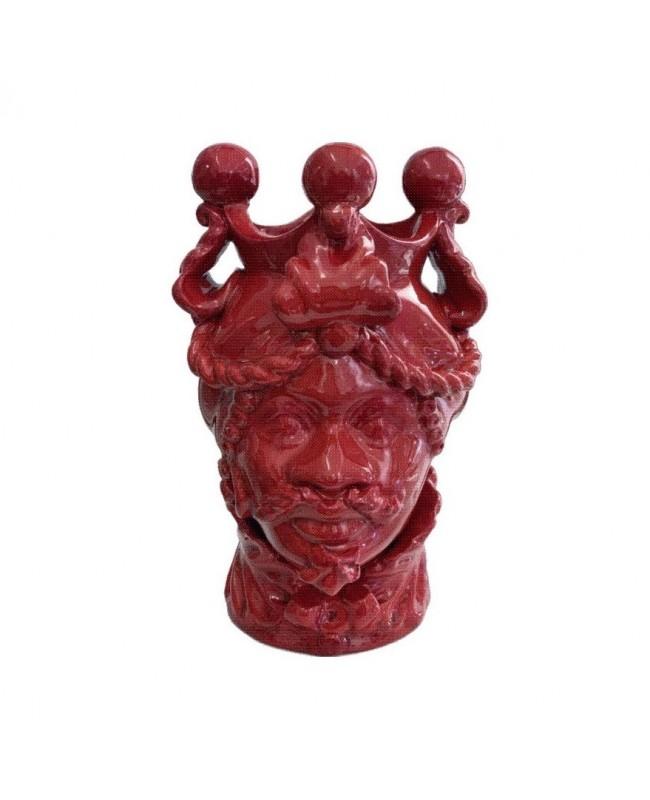 Vaso Testa di Moro HKFROSSOH20M - 1 - Ceramica