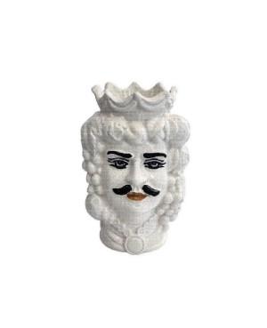 Vase Testa di Moro HKFBIANCODH14M - 1 - Ceramic