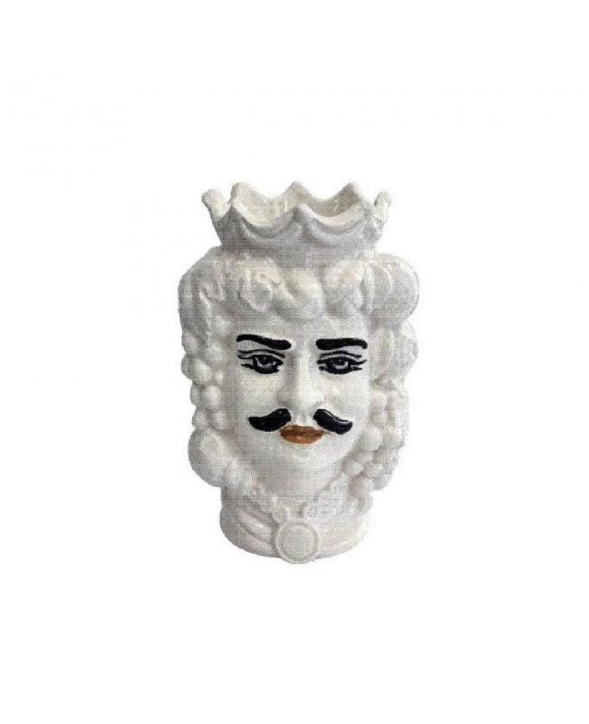 Vaso Testa di Moro HKFBIANCODH14M - 1 - Ceramica