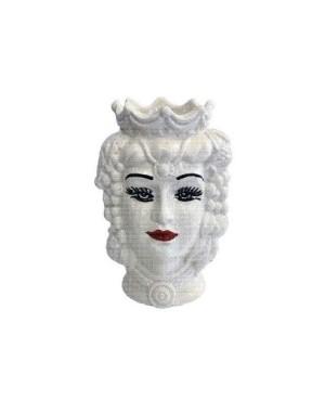 Vase Testa di Moro HKFBIANCODH14F - 1 - Ceramic