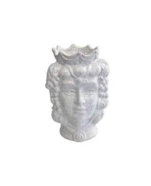 Vaso Testa di Moro HKFBIANCOH14F - 1 - Ceramica
