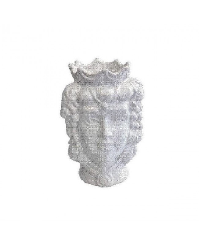 Vase Testa di Moro HKFBIANCOH14F - 1 - Ceramic