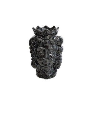 Vase Testa di Moro HKFNEROH14M - 1 - Ceramic