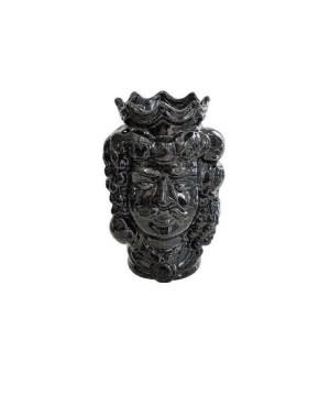Vaso Testa di Moro HKFNEROH14M - 1 - Ceramica