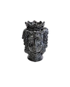 Vaso Testa di Moro HKFNEROH14F - 1 - Ceramica