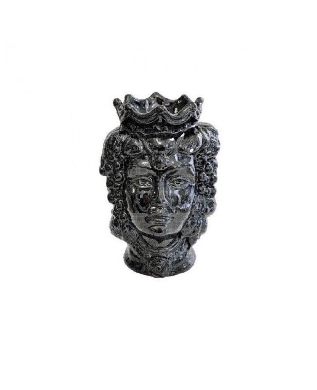 Vase Testa di Moro HKFNEROH14F - 1 - Ceramic