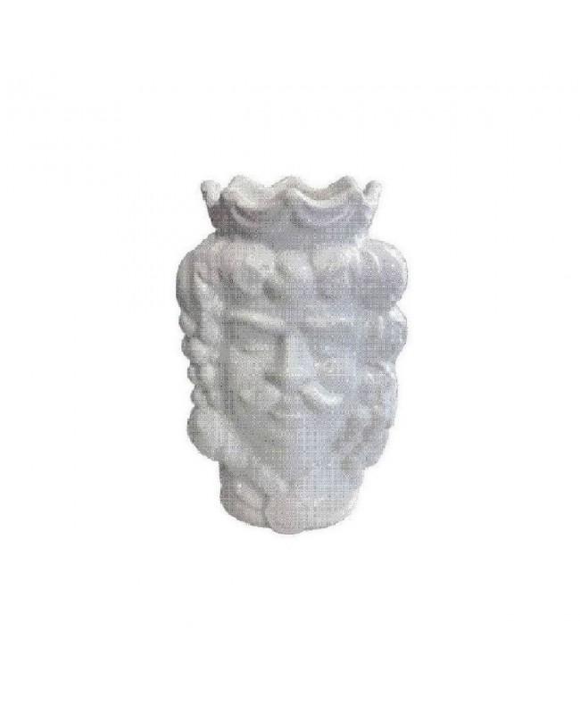 Vaso Testa di Moro HKFBIANCOH14M - 1 - Ceramica