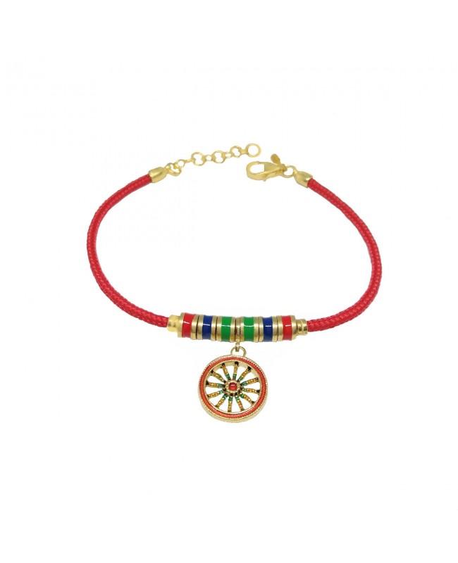 Bracelet Ruota Pendente Cordino Rosso Articolo 10B - 1 - Bracelets