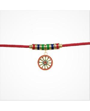 Bracelet Ruota Pendente Cordino Rosso Articolo 10B - 2 - Bracelets